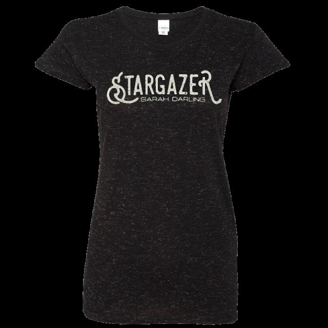 Sarah Darling Ladies Black Glitter Tee