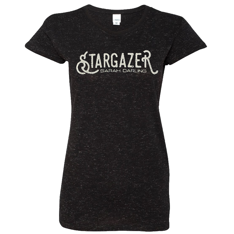 Sarah Darling Ladies Black Glitter Tee