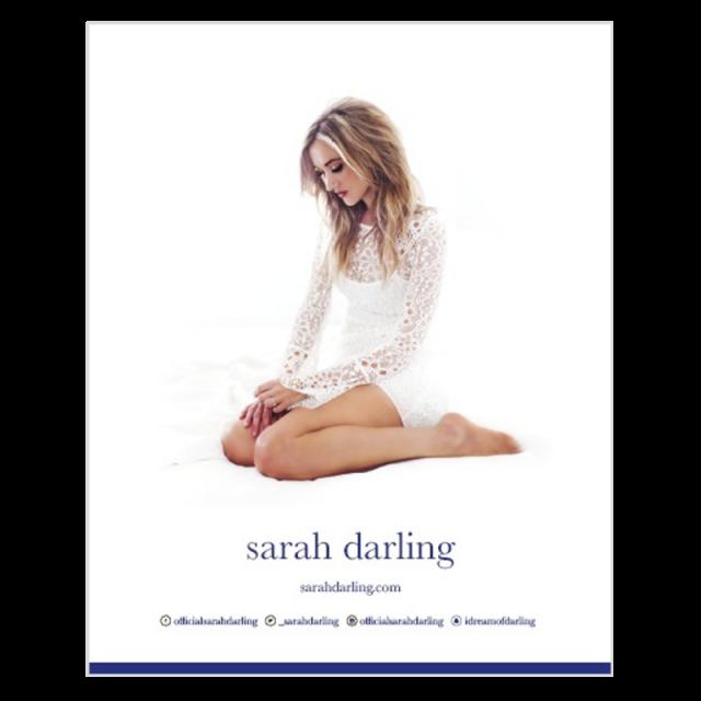Sarah Darling AUTOGRAPHED 8x10