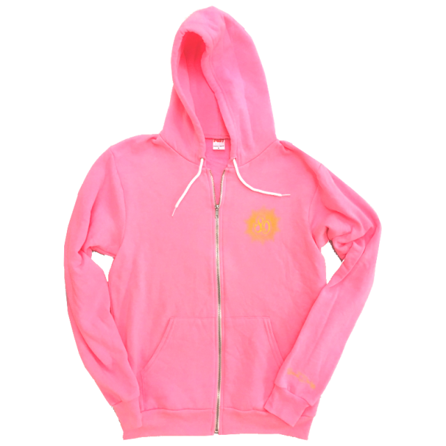 Sarah Darling Hot Pink Zip Up Hoodie