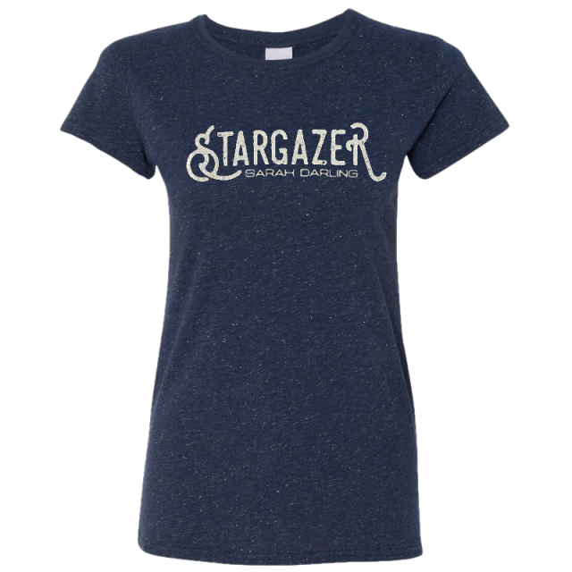 Sarah Darling Ladies Navy Glitter Tee
